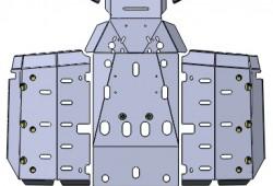 CFMOTO CF800 X8 — защита днища и рычагов (3 мм)
