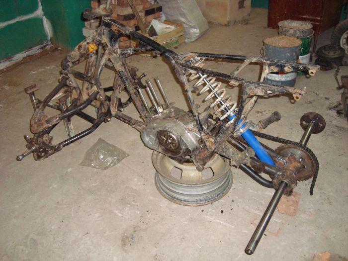 Рама самодельного квадроцикла