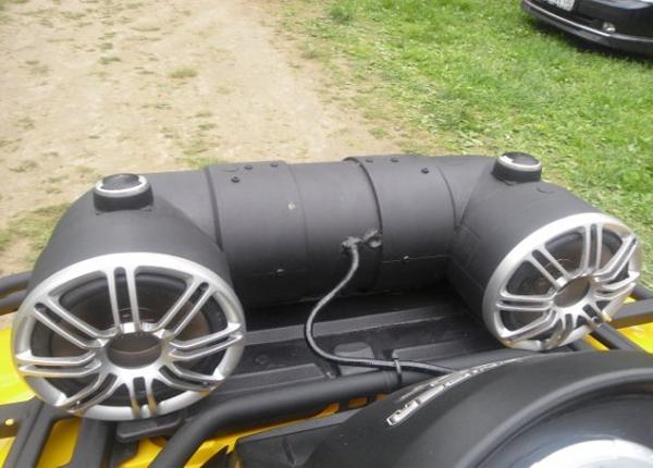 Установка аудиосистемы на квадроцикл
