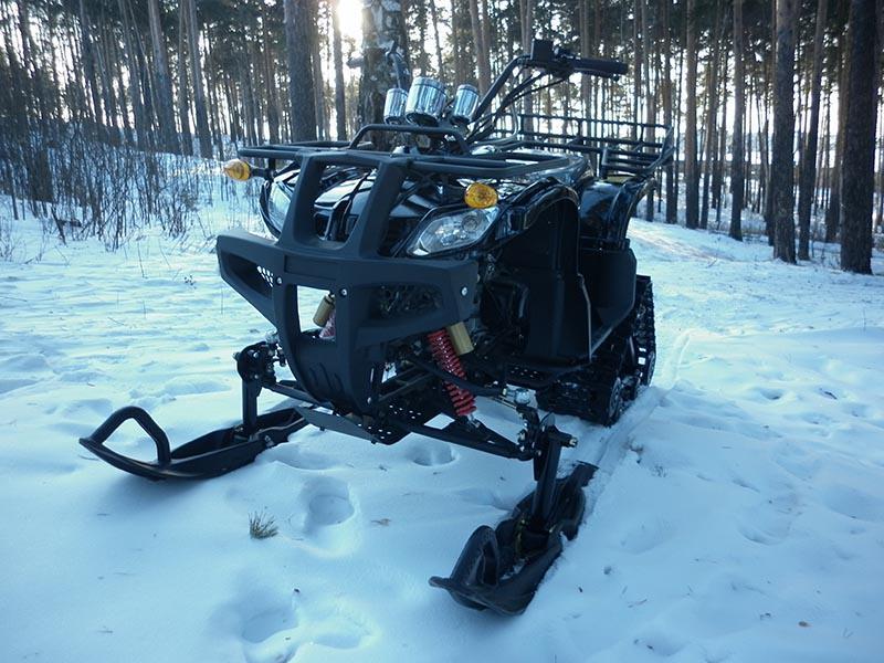 Зимний вариант снегохода квадроцикла Apache Track 200cc
