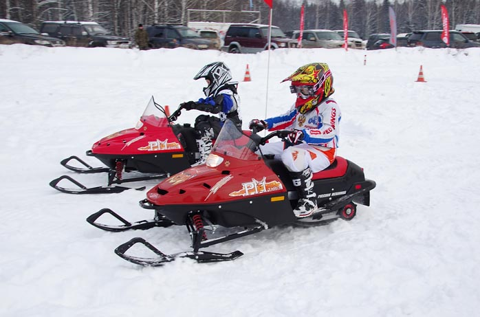 Российские детские снегоходы