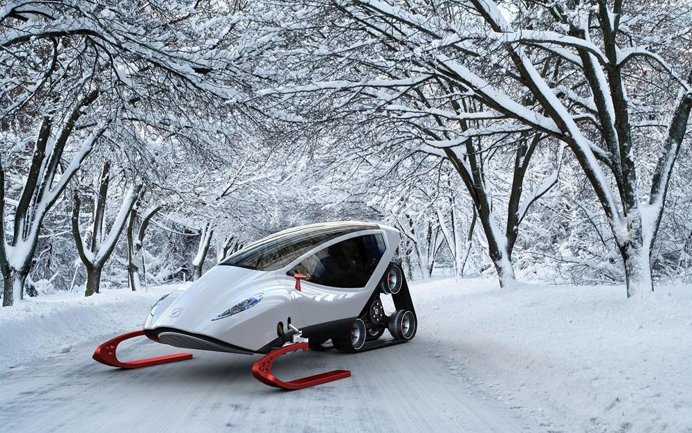 Новые электрические снегоходы