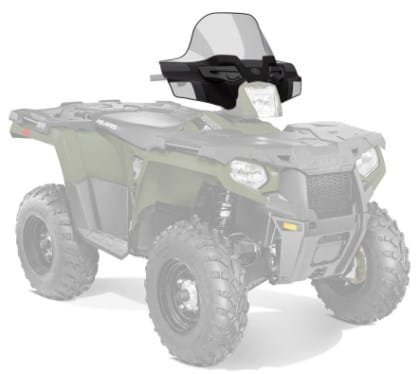 Стекло ветровое SPORTSMAN / K-WINDSHIELD ATV MID BLACK