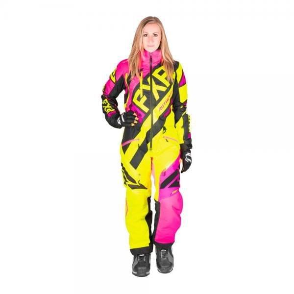 FXR Комбинезон  CX без утеплителя, женский (Elec Pink/Hi Vis/Black)