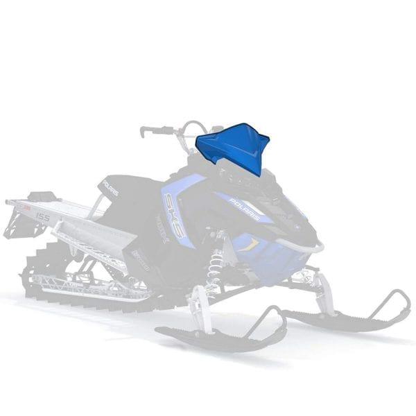 Стекло ветровое AXYS среднее (синий)  / K-W/S-MID BLUE W/LOGO RMK 2881053