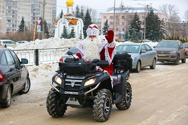 Квадроцикл CFMOTO для Дедушки Мороза!