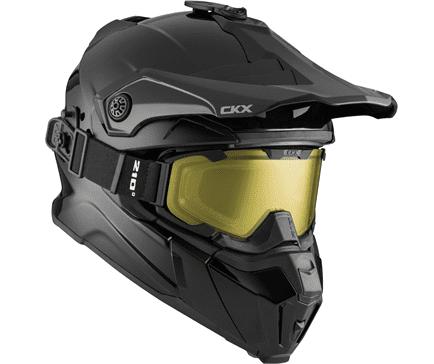 """CKX Шлем снегоходный бэккантри  TITAN SOLID с очками  210"""" TACTICAL, черный"""