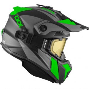 "CKX Шлем снегоходный  TITAN SIDEHILL с очками  210""TACTICAL, зелен мат."
