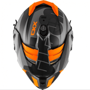 """CKX Шлем снегоходный бэккантри  TITAN SIDEHILL с очками  210"""" TACTICAL оранжевый матовый"""