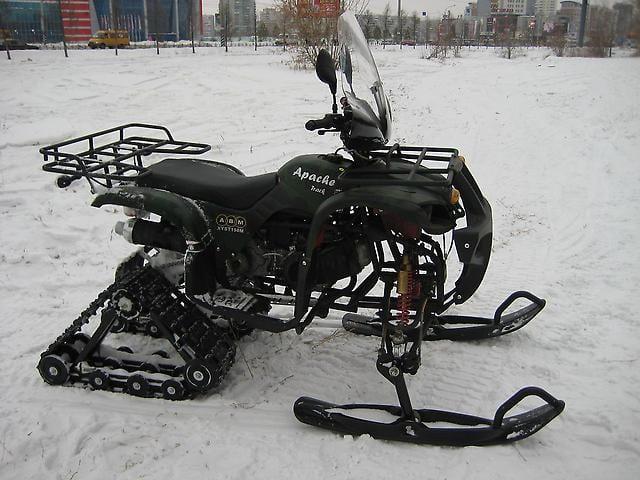 Снегоход квадроцикл Apache Track 200cc – универсальность в одной модели