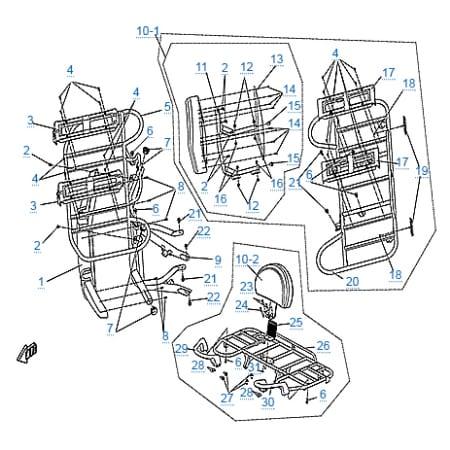 Багажные платформы и бампер для CFMOTO 500-A Basic