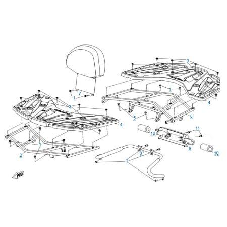 Багажные платформы для CFMOTO X5 H.O. EFI&EPS
