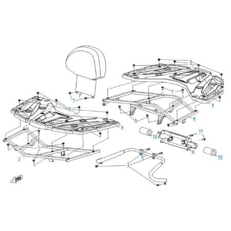 Багажные платформы для CFMOTO X6 EPS