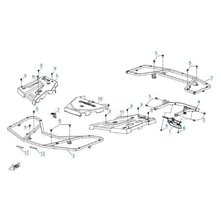 Багажные платформы для CFMOTO X8 H.O. EPS