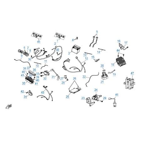 Электрическая система (eps) для CFMOTO X6 EPS