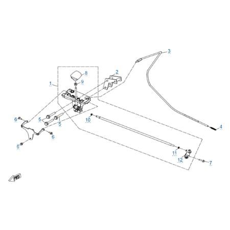 Механизм переключения передач для CFMOTO X8 H.O. EPS