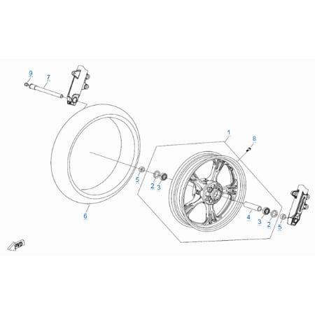 Заглушка оси переднего колеса