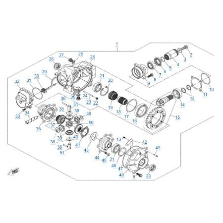 Передний редуктор для CFMOTO X8 H.O. EPS