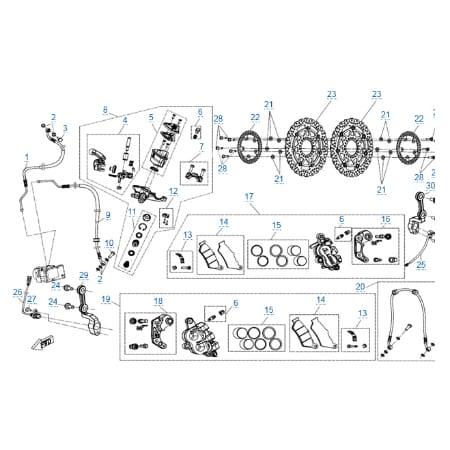 Передняя тормозная система (abs) для CFMOTO 400 NK (ABS)