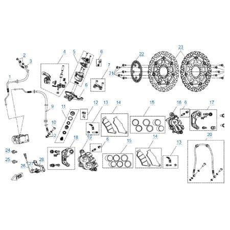 Передняя тормозная система (abs) для CFMOTO 650 TK
