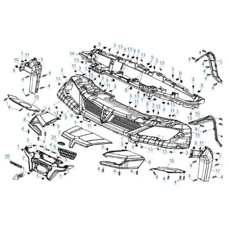 Пластиковые детали 1 для CFMOTO U10 EPS