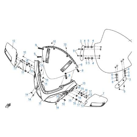 Пластиковые детали 1 для CFMOTO 650 TK