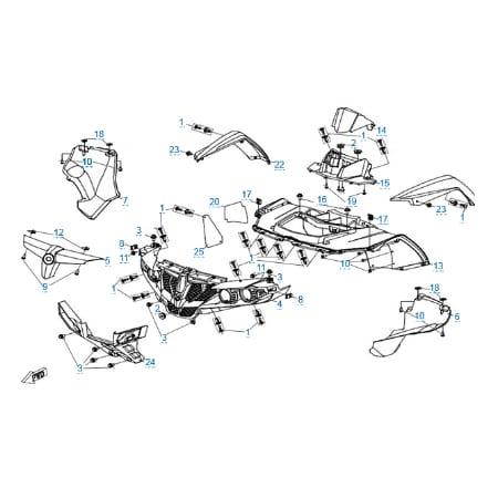 Пластиковые детали 1 для CFMOTO X5 H.O. EFI&EPS