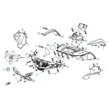 Пластиковые детали 1 для CFMOTO X6 EPS