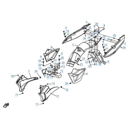 Пластиковые детали 2 для CFMOTO 150-A Leader