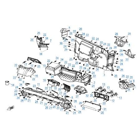 Пластиковые детали 2 для CFMOTO U10 EPS