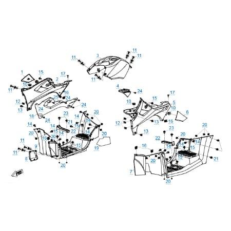 Пластиковые детали 2 v2 для CFMOTO X5 H.O. EFI&EPS