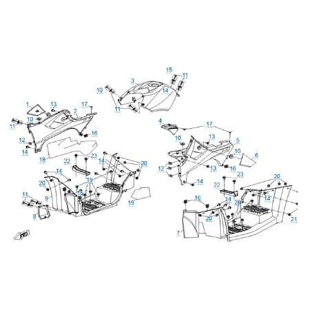 Пластиковые детали 2 для CFMOTO X5 H.O. EFI&EPS