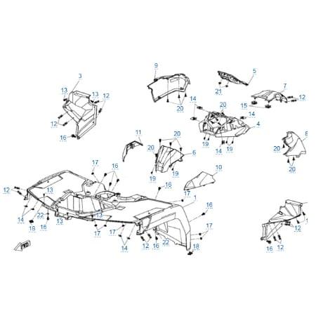 Пластиковые детали 2 для CFMOTO X8 H.O. EPS