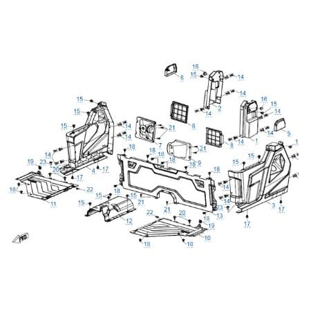 Пластиковые детали 3 для CFMOTO U10 EPS