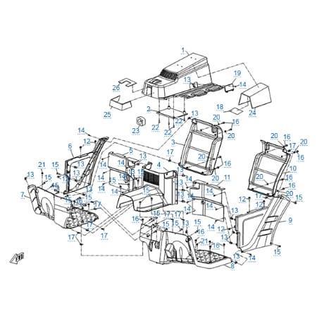 Пластиковые детали 3 для CF500-3