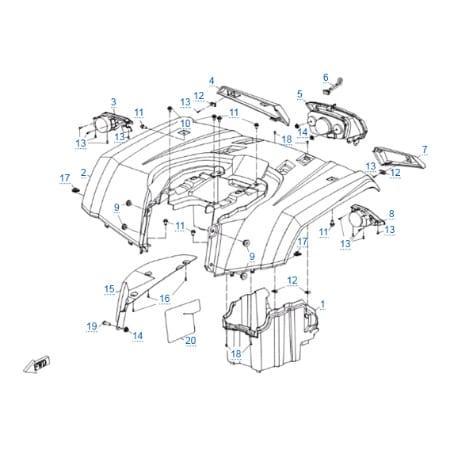Пластиковые детали 3 для CFMOTO X4 Basic