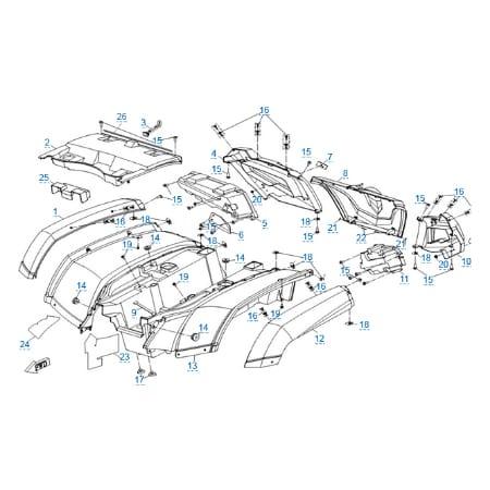Пластиковые детали 3 для CFMOTO X5 H.O. EFI&EPS