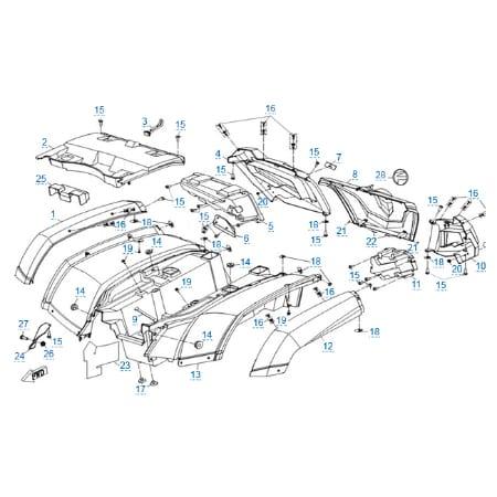 Пластиковые детали 3 для CFMOTO X6 EPS