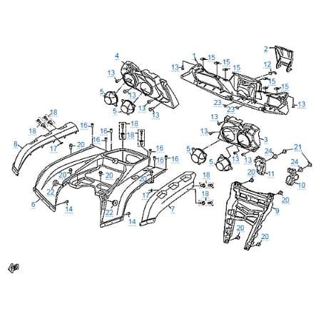 Пластиковые детали 3 для CFMOTO X8 EFI&EPS