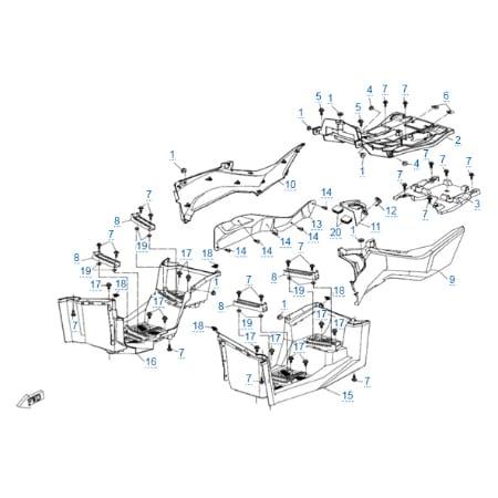 Пластиковые детали 3 для CFMOTO X10 EPS