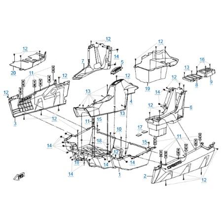 Пластиковые детали 4 для CFMOTO Z8 EFI&EPS
