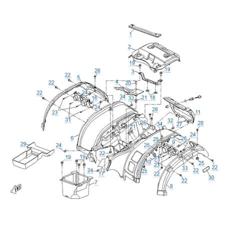 Пластиковые детали 4 для CFMOTO 500-2A