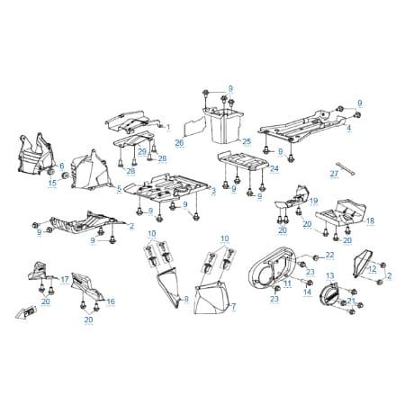 Пластиковые детали 4 для CFMOTO X4 EFI&EPS