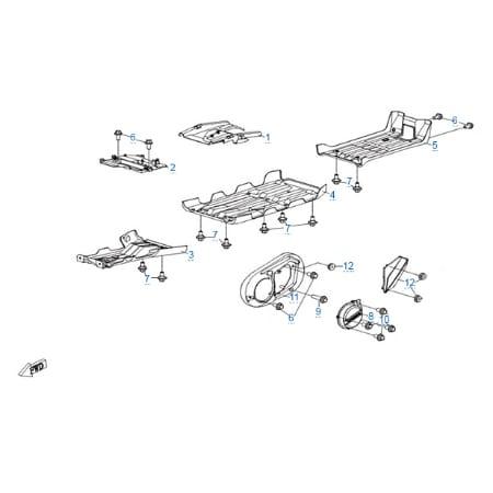 Пластиковые детали 4 для CFMOTO X5 H.O. EFI&EPS