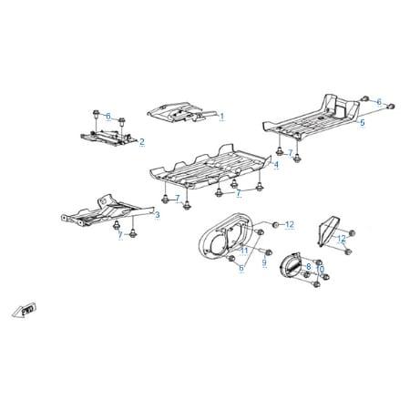 Пластиковые детали 4 для CFMOTO X6 EPS