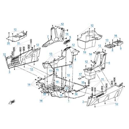 Пластиковые детали 4 для CFMOTO Z10 EFI&EPS