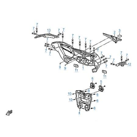 Пластиковые детали 6 для CFMOTO Z10 EFI&EPS