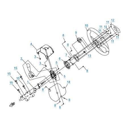 Рулевое управление 1 для CF500-3