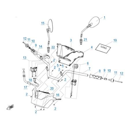 Рулевое управление для CFMOTO 250 JETMAX