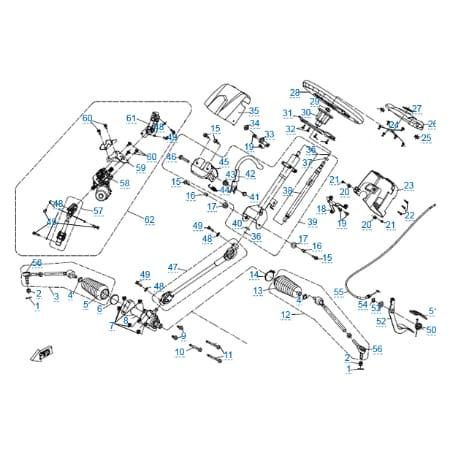 Рулевое управление (eps) для CFMOTO U8W EFI&EPS